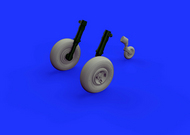 Aircraft- Spitfire Mk XIV Wheels 4-Spoke for ARX (Resin) #EDU648468