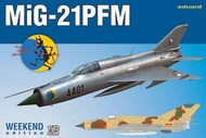 MiG-21PMF Soviet Cold War Jet Fighter (Wkd Edition Plastic Kit) #EDU7454