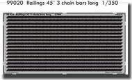 Eduard Models  1/350 Railings 45ft 3 Chain Bars Long  0  PE-SETS EDU99020