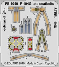Lockheed F-104G Starfighter late seatbelts STEEL #EDUFE1040