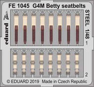 Mitsubishi G4M1 Betty seatbelts STEEL #EDUFE1045