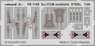 Sukhoi Su-27UB seatbelts STEEL #EDUFE1155