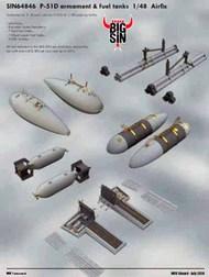 Eduard Models  1/48 P-51D armament & fuel tanks (AFX) EDUSIN64846