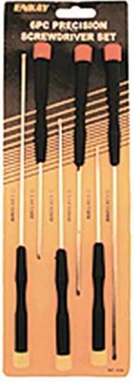 6pc Assorted X-Long Precision Screwdriver Set (Cd) #ENK3636