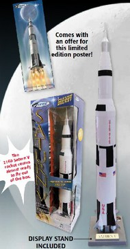 Estes Industries  1/200 RTF Apollo II Saturn V Model Rocket Commemorative Edition EST2160