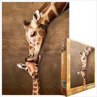 EUROGRAPHICS PUZZLES   N/A Mother Giraffe Kissing Little Giraffe Puzzle (1000pc) ERG60301