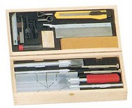 Excel Knives   Knife Deluxe Knife & Tool Set: Knives, Blades, Gouges, Routers, Mitre Box, Screwdrivers, Awl (Wooden Box) (replaces XAC-5087) EXL44286