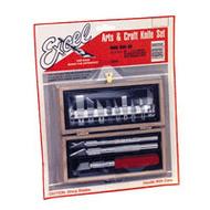 Excel Knives   Knife Wooden Box Hobby Knife Set EXL44382