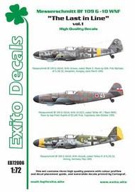 The Last in Line vol.1 - Messerschmitt Bf.109G-10 WNF #EXED72006