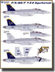 Fightertown Decals  1/48 F/A-18E/F VX9 Rhino Vampires FTD48030