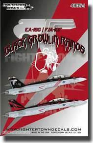 Fightertown Decals  1/48 EA-18G / F/A-18F Black Growlin Rainos  FTD48054