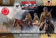 Polish Uhlans command on horseback #FRF72