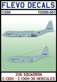 Flevo Decals  1/200 336 Squadron C-130H / C130H-30 Hercules FD200001