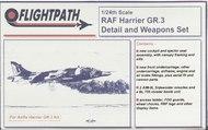 Flightpath UK  1/24 RAF BAe Harrier GR.3 Detail Set FHP24003