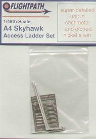 Flightpath UK  1/48 Douglas A-4 Skyhawk access ladder. Cast metal sides with etched nickel steps (designed to be used with Hasegawa kits) [A-4B A-4C A-4E A-4F A-4H A-4K A-4KU A-4L A-4M A-4N A-4SU FHP48117