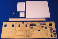Flightpath UK  1/72 Nissen Hut. Complete kit in etched brass, plastic, wood and cast metal - provides for building a Nissen hut with alternative style ends and, with or without an entrance porch. Optional dormer windows of two widths are also supplied. Nissen huts were provi FHP7202A