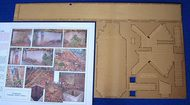 Flightpath UK  1/72 Air Raid/Blast Shelter Set. A simple complete fold-up kit in etched brass, providing for one of the rectangular brick built shelters seen on both airfields and in towns and villages across Britain and also the entrance and ventilation shaft for the earth- FHP7202C