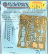 Flightpath UK  1/72 Supermarine Scimitar F.1 Ladder Set - also includes FOD guards & wheel chocks (designed to be used with Czechmaster and Xtrakits) FHP72060E