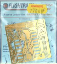 Flightpath UK  1/72 McDonnell F-4K/F-4M Phantom ladders - RAF/Royal Navy - both front & rear ladders + pull-out steps (designed to be used with Fujimi and Hasegawa kits) FHP72060F