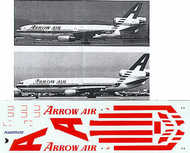 Flightpath USA  1/200 McDonnell-Douglas DC-10 ARROW AIR Bright Red stripes N904WA/N905WA . FPA20198