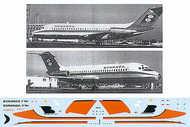 Flightpath USA  1/200 Douglas DC-9-10 BONANZA Air Lines Fun Jet N945L. Orange/black cheat line FPA20257