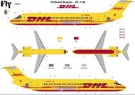 Fly Models  1/144 DC9-40 DHL Commercial Airliner FYM14412