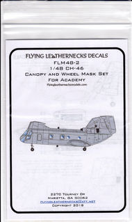 Flying Leathernecks  1/48 Boeing CH-46 Canopy and Wheel Mask Set(designed to be used with Academy kits) FLM48-2