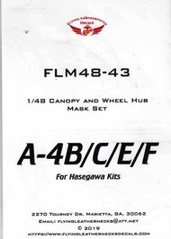 A-4B A-4C A-4E A-4F Skyhawk Canopy and Wheel Mask Set (HAS kit) #ORDFLM48043