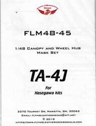 TA-4J Skyhawk Canopy and Wheel Mask Set (HAS kit) #ORDFLM48045
