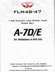 A-7D A-7E Corsair II Canopy and Wheel Mask Set (HBS kit) #ORDFLM48047