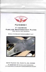 Flying Leathernecks  1/32 Orion F-16 Falcon Fuselage Reinforcement Plates (ACD kit) #V32001A ORDV32001A