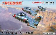 Lockheed F-104 & TF-104 USAF Starfighter (Compact Series) Includes 2 kits #FDK162704