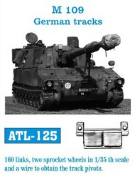 Friulmodel  1/35 German M109 Track Set (160 Links & 2 Sprocket Wheels) (D)<!-- _Disc_ --> FRIATL125