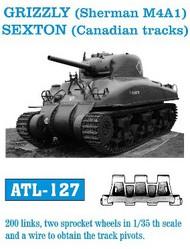 Friulmodel  1/35 Canadian Grizzly (Sherman M4A1) Sexton Track Set (200 Links & 2 Sprocket Wheels) (D)<!-- _Disc_ --> FRIATL127