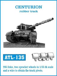 Friulmodel  1/35 Centurion Rubber-Type Track Set (205 Links) (D)<!-- _Disc_ --> FRIATL135