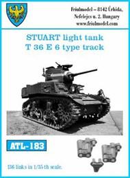 Stuart Light Tank T36 E6 Type Track Set (136 Links) #FRIATL183
