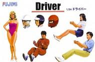 Fujimi  1/24 Drivers (3) w/Optional Heads & Girl Model Figure (1) FJM11491