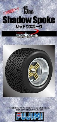 "Fujimi  1/24 Shadow Spoke 15"" Tire & Wheel Set (4) FJM19303"