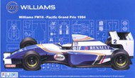 Fujimi  1/20 1994 Williams FW16 GP21 Pacific Grand Prix Race Car FJM9065