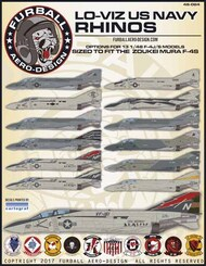 'Lo-Viz U.S. Navy Rhinos' has options for 11 McDonnell F-4S aircraft, and 2 F-4J aircraft #FBD48064