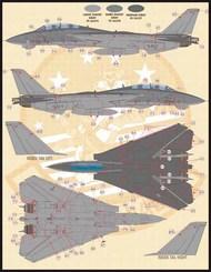 'Grumman F-14A Tomcat Stencil and Data' set in 1/72 scale (72-010). #FBD72010