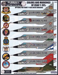 Furball Aero-Design  1/48 Colors and Markings of USAF 102As - Pre-Order Item FBDS4817
