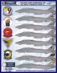 Colors and Markings of US Navy Grumman F-14s Part Ten #FBDS4819