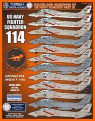 Colors and Markings of US Navy Grumman F-14s Part Eleven #FBDS4820