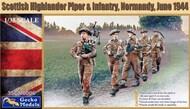 Scottish Highlander Piper & Infantry (Normandy June 1944) Figure Set #GKO350006