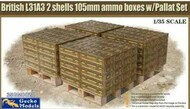 British L31A3 2 Shells 105mm Ammo Boxes with Pallet Set #GKO350020