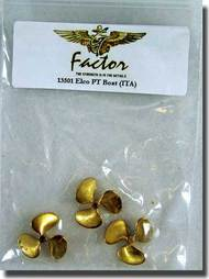 G-Factor  1/35 Elco PT Boat Brass Propellers  GFM13501