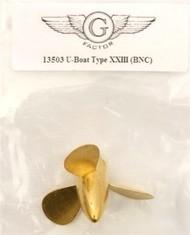 G-Factor  1/35 U-Boat Type XXIII Brass Propeller GFM13503