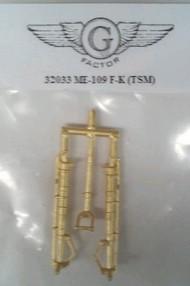 G-Factor  1/32 Me109F/K Brass Landing Gear for TSM (D)<!-- _Disc_ --> GFM32033
