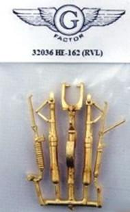 G-Factor  1/32 He162 Brass Landing Gear for RVL (D)<!-- _Disc_ --> GFM32036